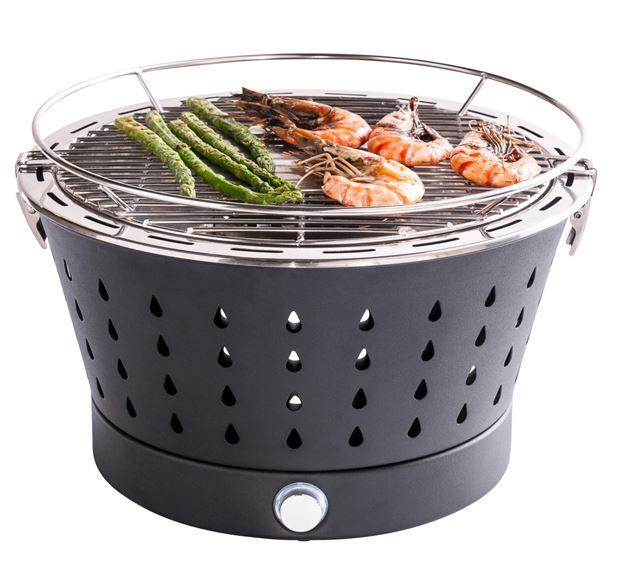 A TABLE Barbecue en grill zwart H 23 cm; Ø 36 cm_a-table-barbecue-en-grill-zwart-h-23-cm;-ø-36-cm