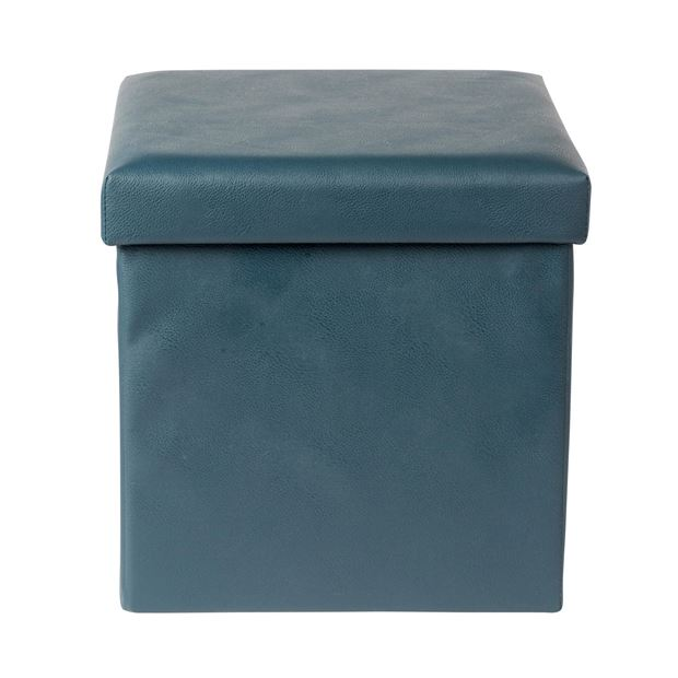 storage pouf de rangement bleu h 38 x larg 38 x p 38 cm sp cialiste depuis 40 ans d j casa. Black Bedroom Furniture Sets. Home Design Ideas
