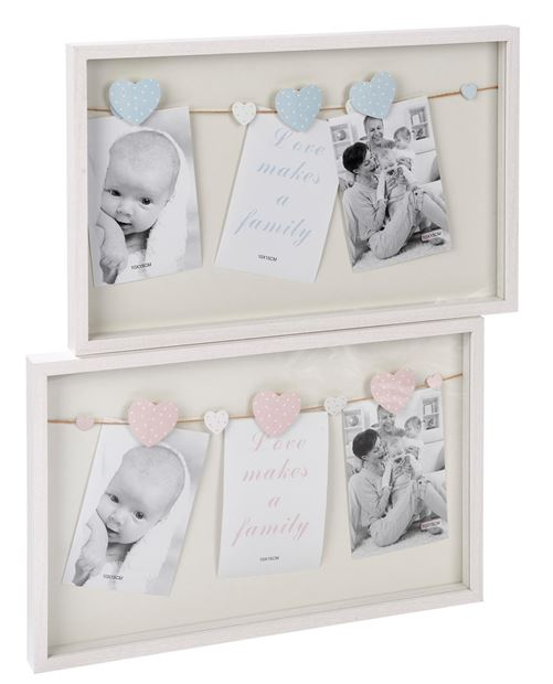 Baby cadre photo rose menthe h 27 x larg 43 x p 3 cm baby