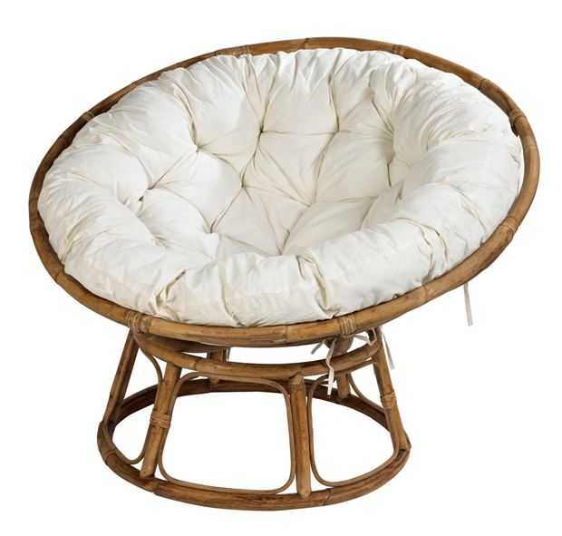 papasan chaise lounge naturel blanc cass h 85 cm 113 cm sp cialiste depuis 40 ans d j casa. Black Bedroom Furniture Sets. Home Design Ideas