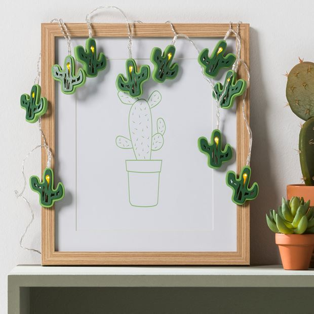 cactus guirlande lumineuse avec 10 leds produits. Black Bedroom Furniture Sets. Home Design Ideas