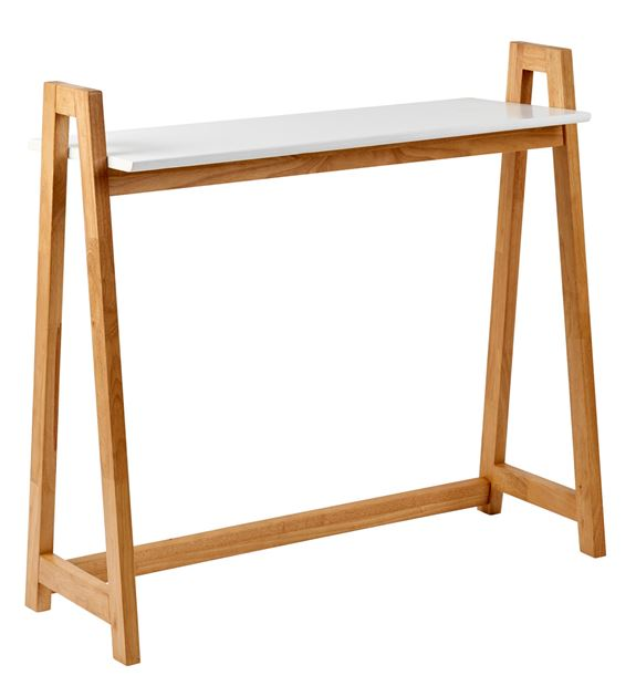 VITO Table murale blanc, naturel H 85 x Larg. 35 x Long. 90 cm_vito-table-murale-blanc,-naturel-h-85-x-larg--35-x-long--90-cm