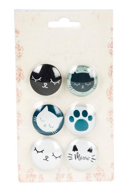 MEOW Aimants set de 6 diverses couleurs Ø 3 cm_meow-aimants-set-de-6-diverses-couleurs-ø-3-cm