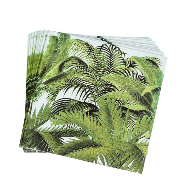 PALM TREES Set de 20 serviettes diverses couleurs Larg. 33 x Long. 33 cm_palm-trees-set-de-20-serviettes-diverses-couleurs-larg--33-x-long--33-cm