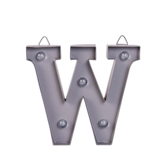 LED Letter W metaal H 10 cm_led-letter-w-metaal-h-10-cm