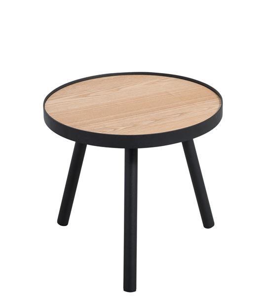ALEXIS Table d'appoint noir, naturel H 36 cm; Ø 40 cm_alexis-table-d'appoint-noir,-naturel-h-36-cm;-ø-40-cm