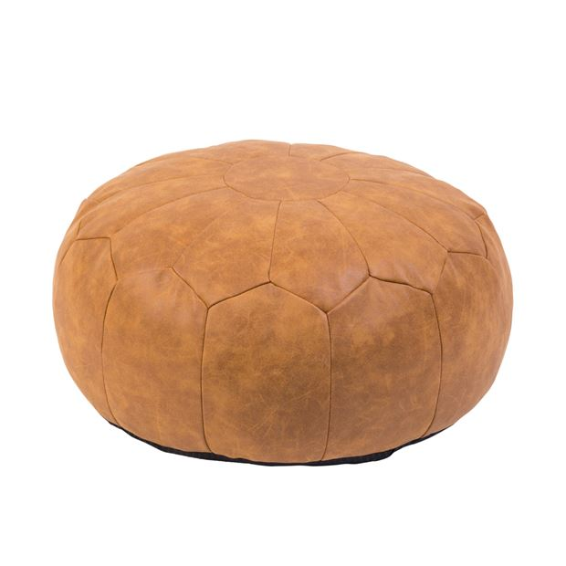on sale eec5f e240c LEDRA Pouf brun Long. 22 cm; Ø 45 cm