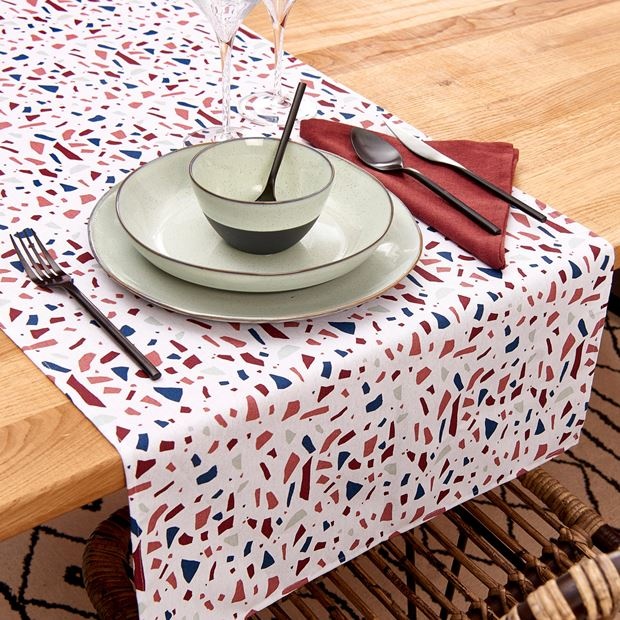 TERRAZZO  Chemin de table multicolore Larg. 45 x Long. 138 cm_terrazzo--chemin-de-table-multicolore-larg--45-x-long--138-cm