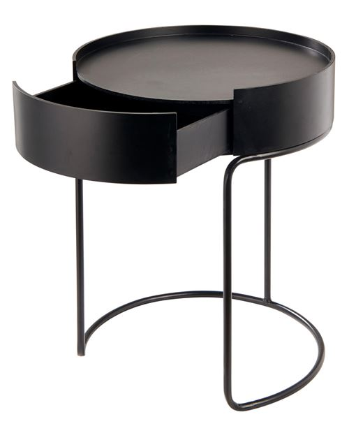 DONNA Table d'appoint noir H 50 cm; Ø 40 cm_donna-table-d'appoint-noir-h-50-cm;-ø-40-cm