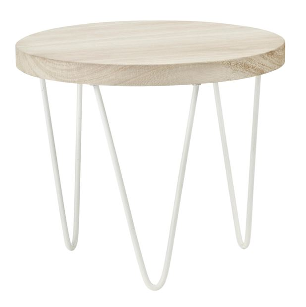 WOODY Table à plantes naturel H 19,5 cm; Ø 23 cm_woody-table-à-plantes-naturel-h-19,5-cm;-ø-23-cm