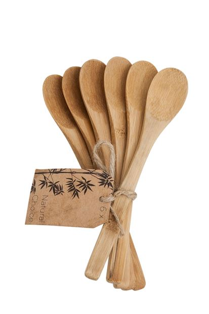 BAMBOO Cuillères set de 6 naturel Long. 16 cm_bamboo-cuillères-set-de-6-naturel-long--16-cm