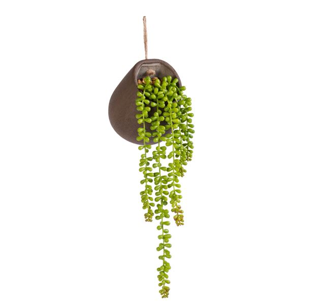 BEANY Plant in hangpot groen H 48 cm; Ø 15 cm_beany-plant-in-hangpot-groen-h-48-cm;-ø-15-cm