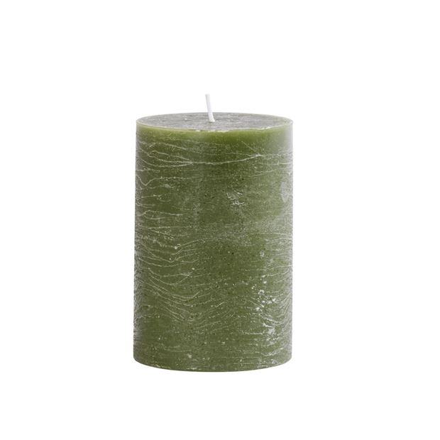 WOOD RUSTIC Bougie cylindrique olive H 12 cm; Ø 8 cm_wood-rustic-bougie-cylindrique-olive-h-12-cm;-ø-8-cm