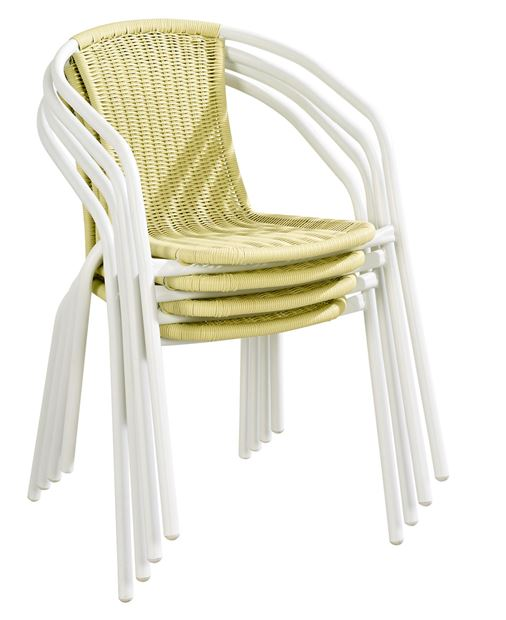 GERONA Chaise empilable lime H 77 x Larg. 53 x P 58 cm_gerona-chaise-empilable-lime-h-77-x-larg--53-x-p-58-cm