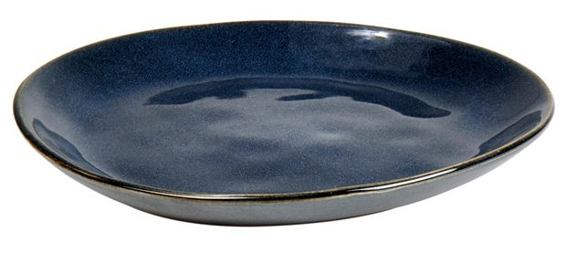 EARTH OCEAN Assiette à dessert bleu Long. 20 cm_earth-ocean-assiette-à-dessert-bleu-long--20-cm