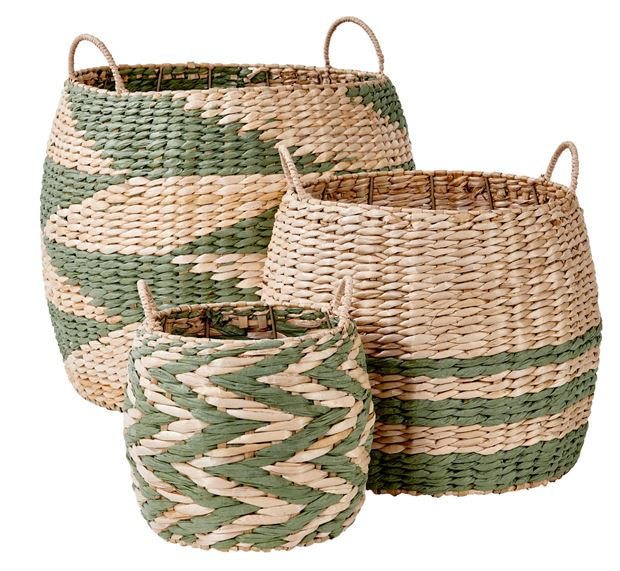 INDIAN GREEN Panier vert, naturel H 29 cm; Ø 36 cm_indian-green-panier-vert,-naturel-h-29-cm;-ø-36-cm