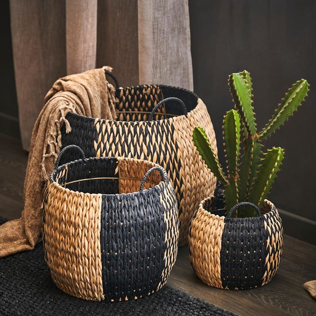 INDIAN SPICE Panier noir, naturel H 38 cm; Ø 46 cm_indian-spice-panier-noir,-naturel-h-38-cm;-ø-46-cm