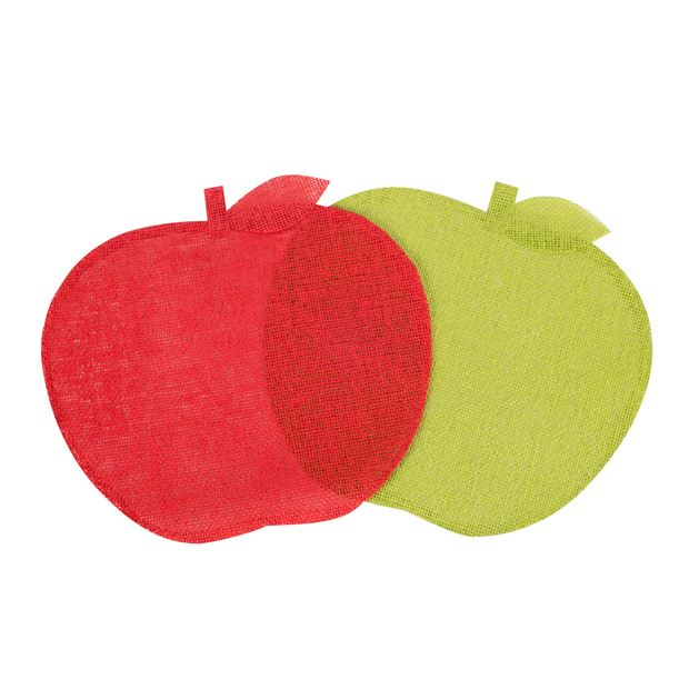 APPLE Set de table rouge, vert Larg. 36 x Long. 34 cm - Produits ...