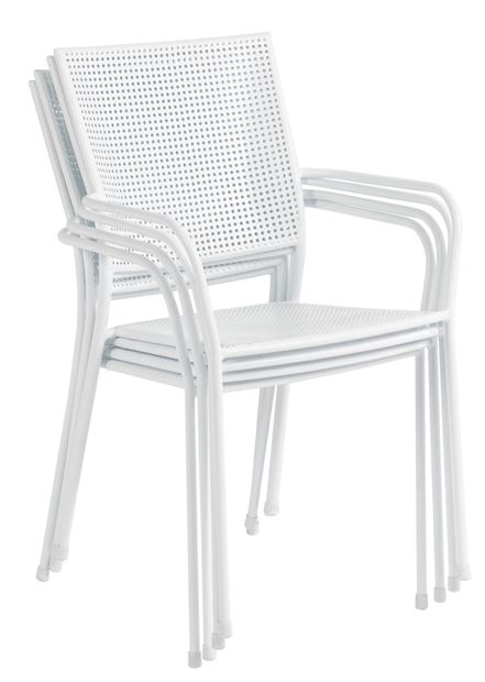 KINGSTON Chaise empilable blanc H 86 x Larg. 55 x P 54 cm_kingston-chaise-empilable-blanc-h-86-x-larg--55-x-p-54-cm
