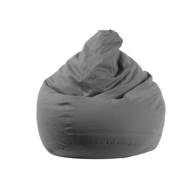 more photos dae8a 94173 BEAN Pouf poire gris foncé Larg. 60 x Long. 60 cm