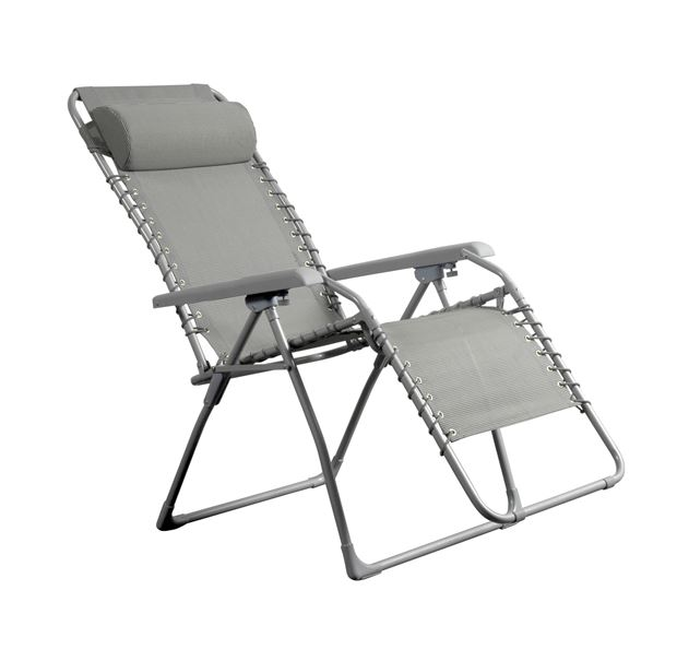 RELAX Chaise Longue Gris H 118 X Larg 63 P 65 Cm Relax