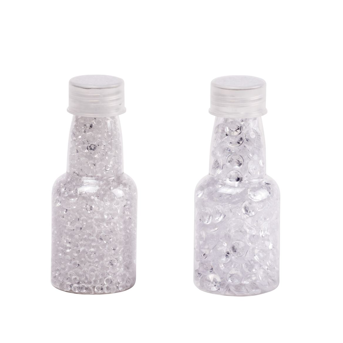 SHINY Decoratie in fles 2 maten transparant H 10 cm; Ø 4 cm_shiny-decoratie-in-fles-2-maten-transparant-h-10-cm;-ø-4-cm