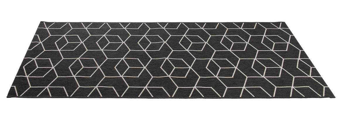 industrial tapis de cuisine noir larg 67 x long 150 cm. Black Bedroom Furniture Sets. Home Design Ideas