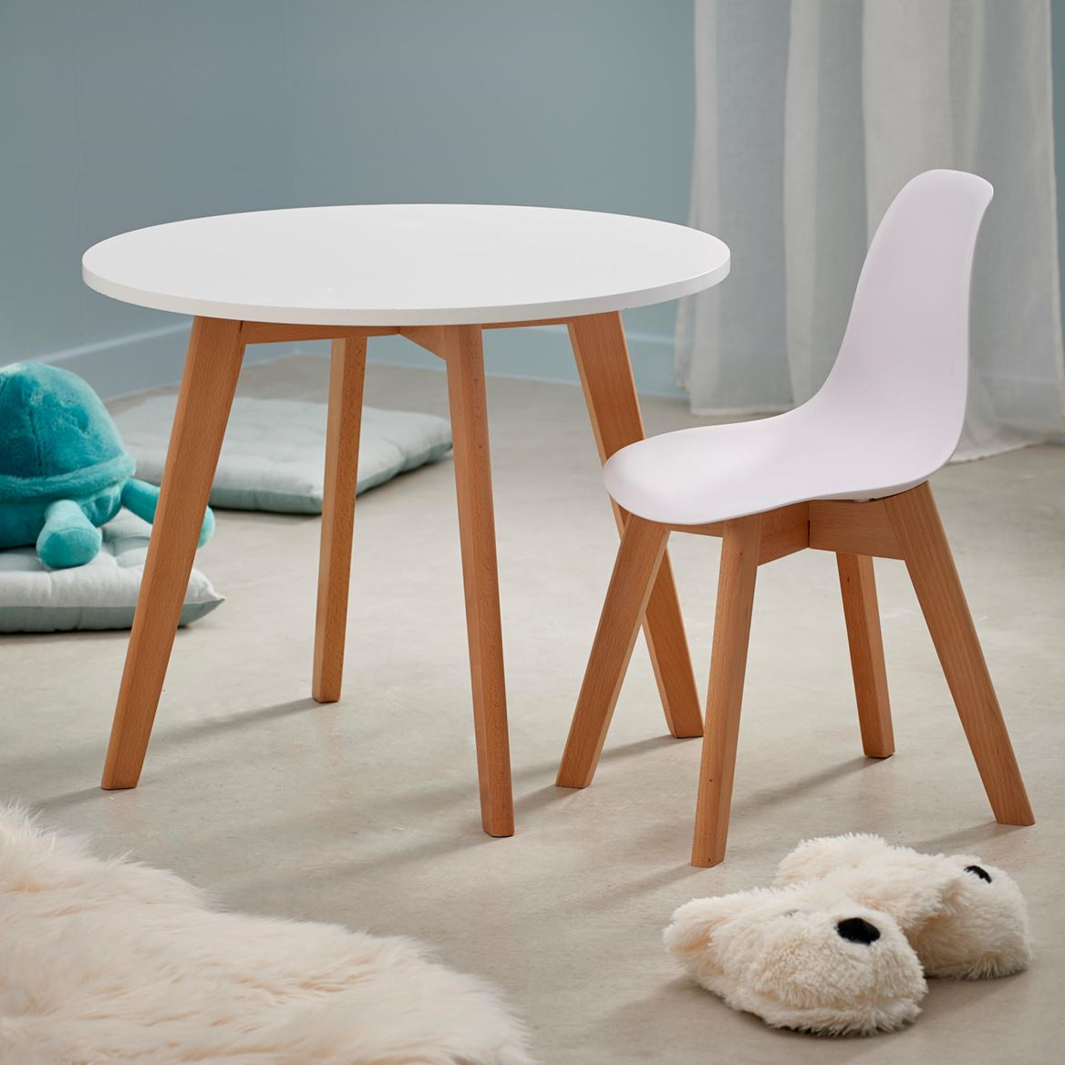 MATHIAS Table pour enfants blanc H 49 cm; Ø 60 cm_mathias-table-pour-enfants-blanc-h-49-cm;-ø-60-cm