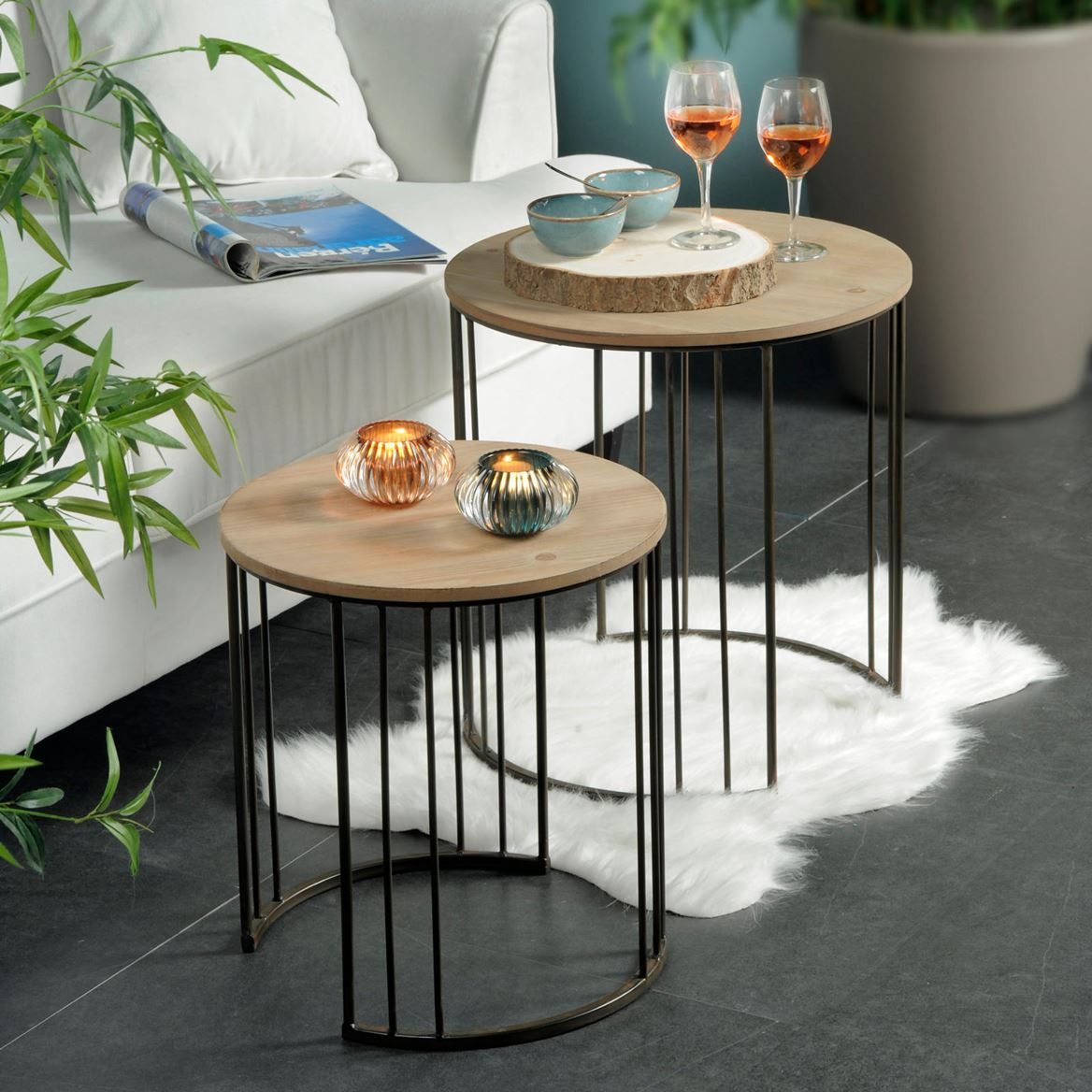 frames tables d 39 appoint set de 2 produits feelgood pour la maison et le jardin chez casa. Black Bedroom Furniture Sets. Home Design Ideas