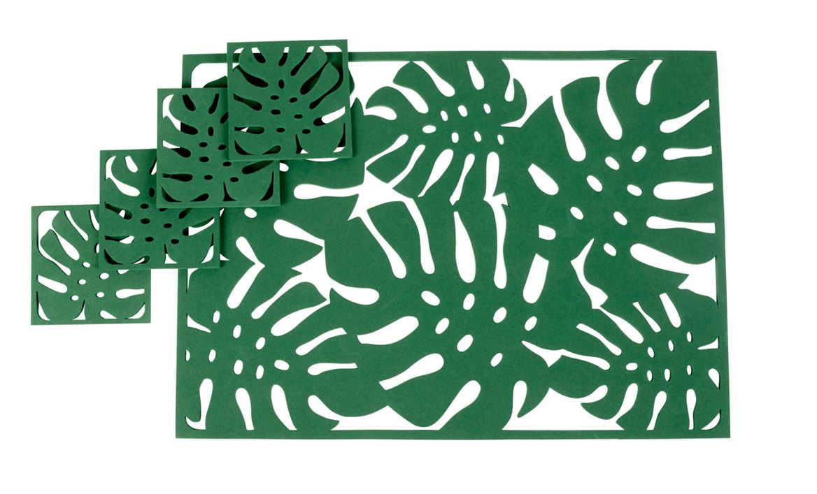 JUNGLE Set de table vert Larg. 32 x Long. 45 cm_jungle-set-de-table-vert-larg--32-x-long--45-cm