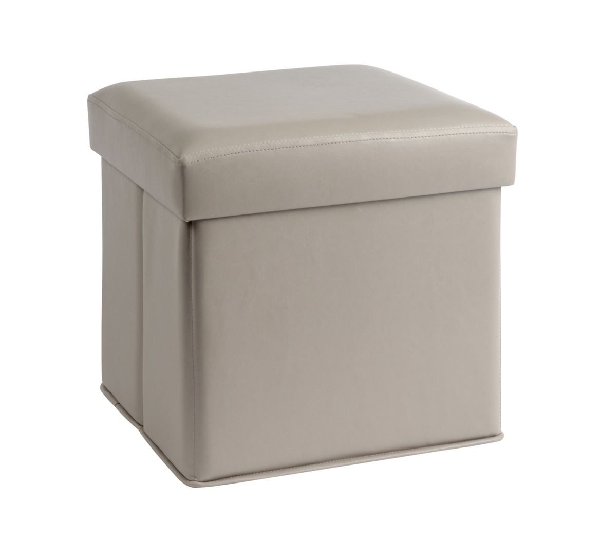 storage pouf de rangement taupe h 38 x larg 38 x p 38 cm sp cialiste depuis 40 ans d j casa. Black Bedroom Furniture Sets. Home Design Ideas