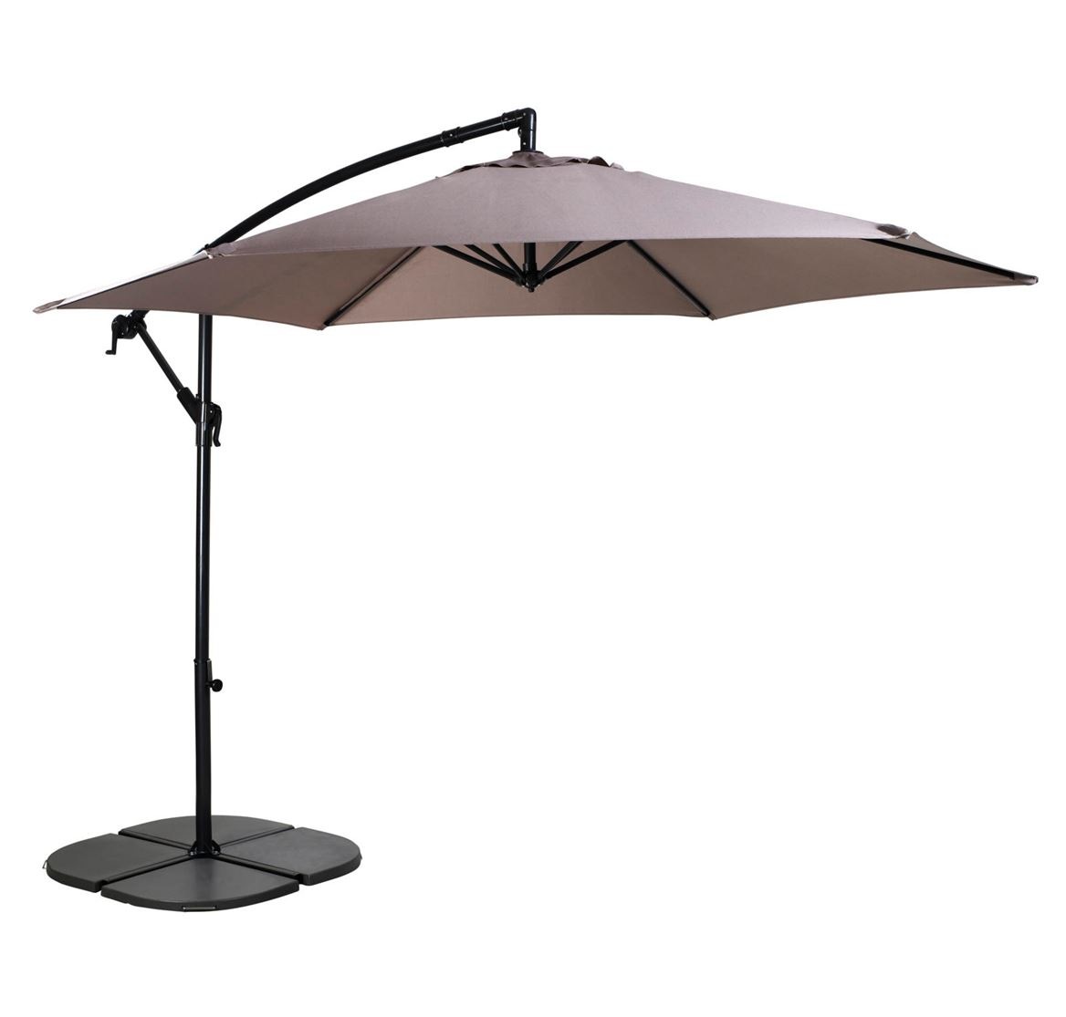 hawai parasol d port taupe h 243 cm 300 cm sp cialiste depuis 40 ans d j casa. Black Bedroom Furniture Sets. Home Design Ideas
