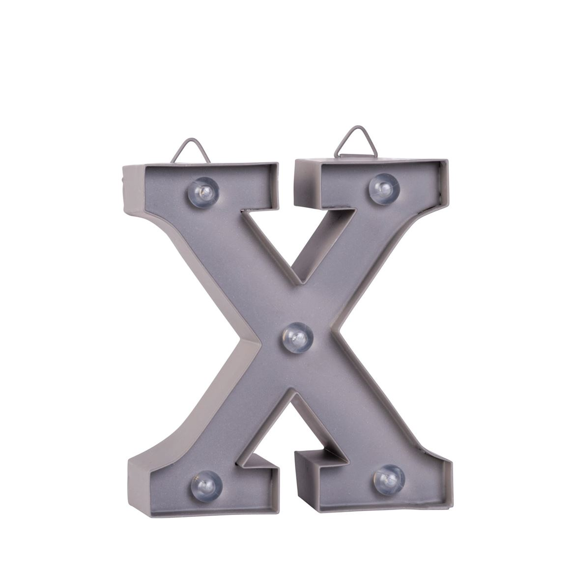 LED Letter X metaal H 10 cm_led-letter-x-metaal-h-10-cm