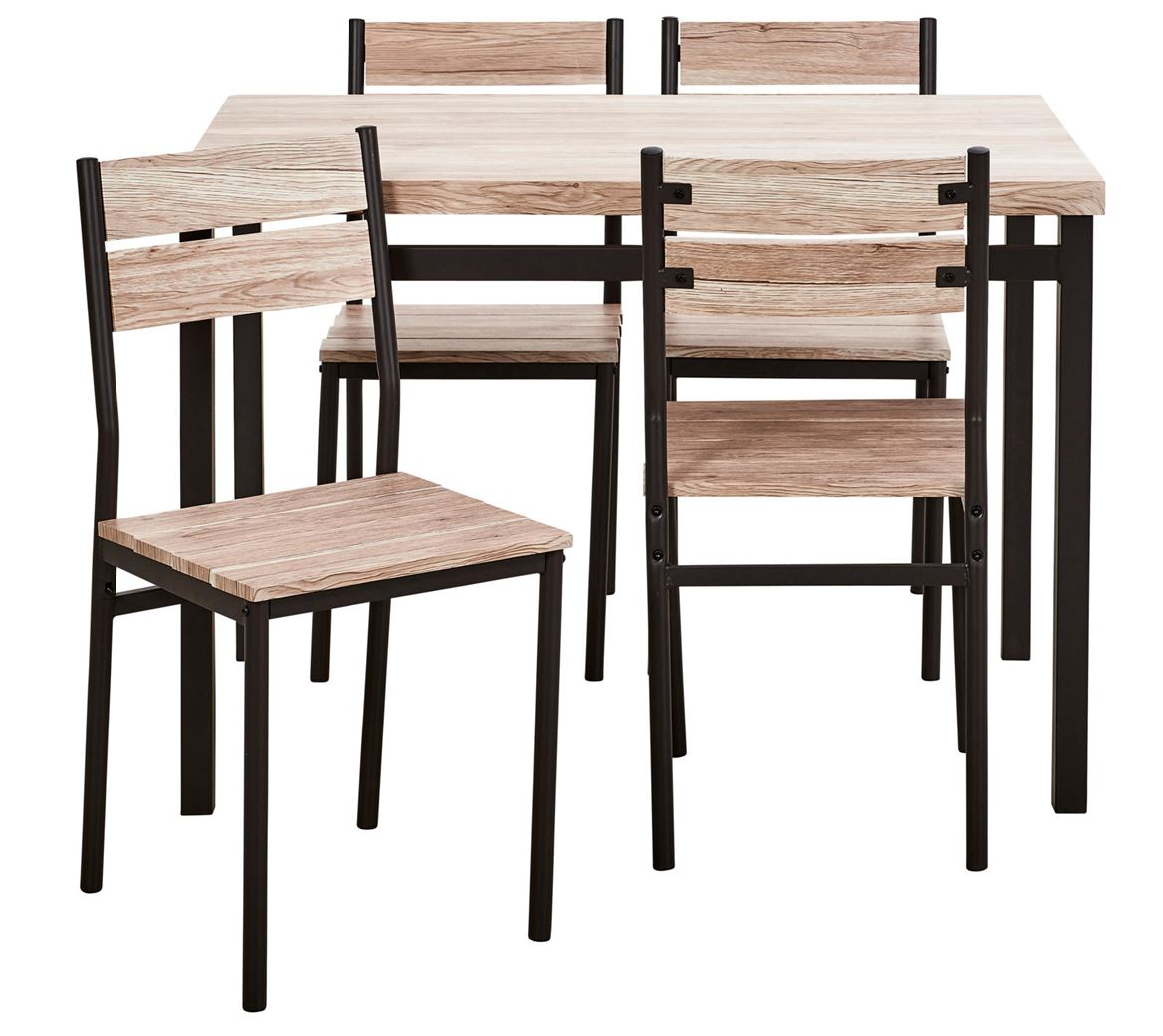 base table avec 4 chaises brun sp cialiste depuis 40 ans. Black Bedroom Furniture Sets. Home Design Ideas