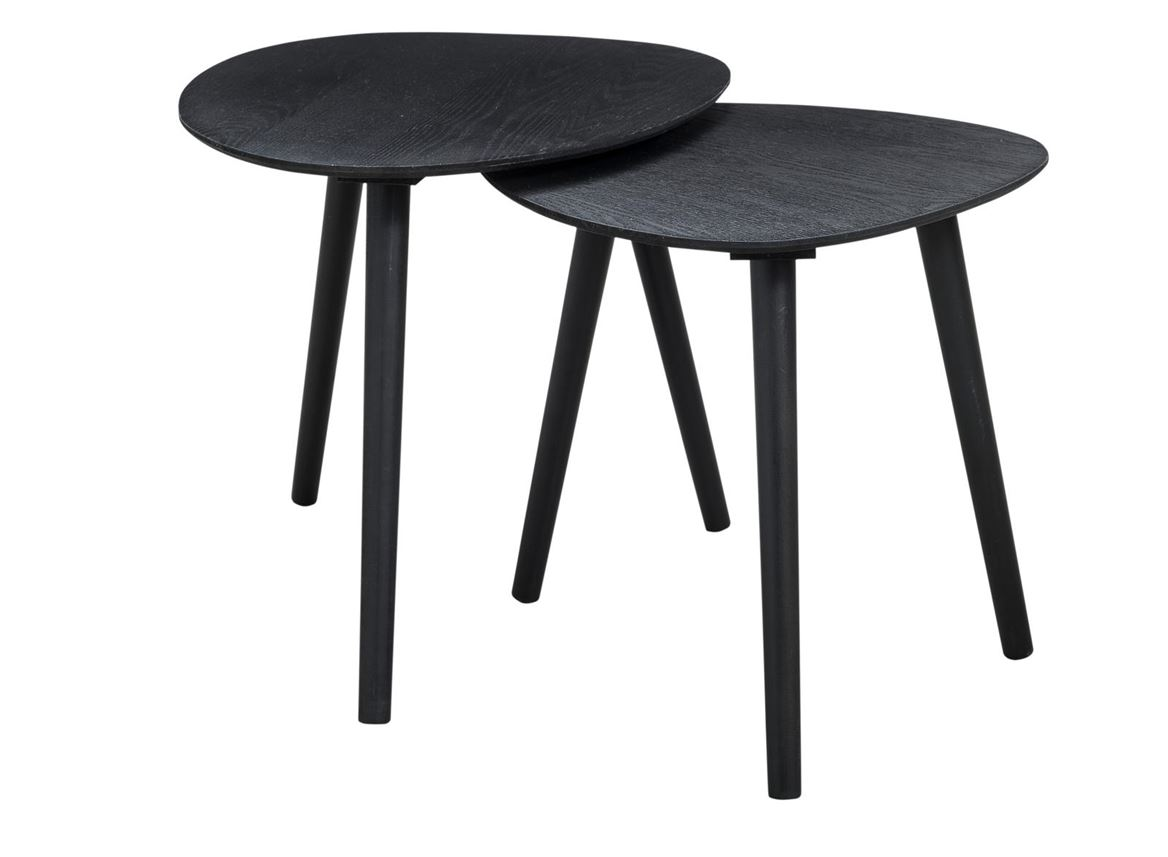 tristan tables d 39 appoint set de 2 noir sp cialiste depuis 40 ans d j casa. Black Bedroom Furniture Sets. Home Design Ideas