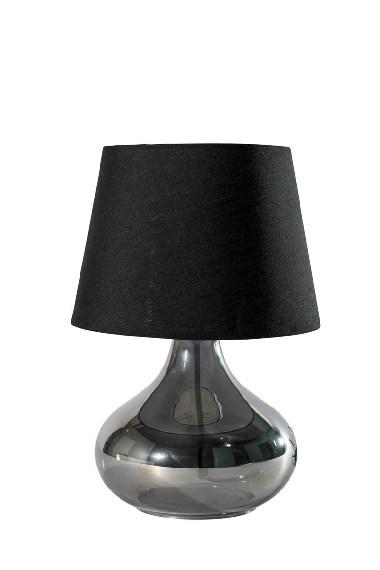 DROP Lampe de table noir, transparent H 33 cm; Ø 17,5 cm; Ø 24 cm_drop-lampe-de-table-noir,-transparent-h-33-cm;-ø-17,5-cm;-ø-24-cm
