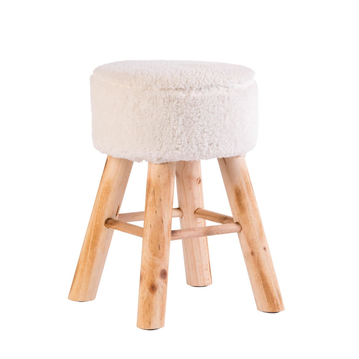 TED Taburete blanco, natural A 41 cm; Ø 30 cm_ted-taburete-blanco,-natural-a-41-cm;-ø-30-cm