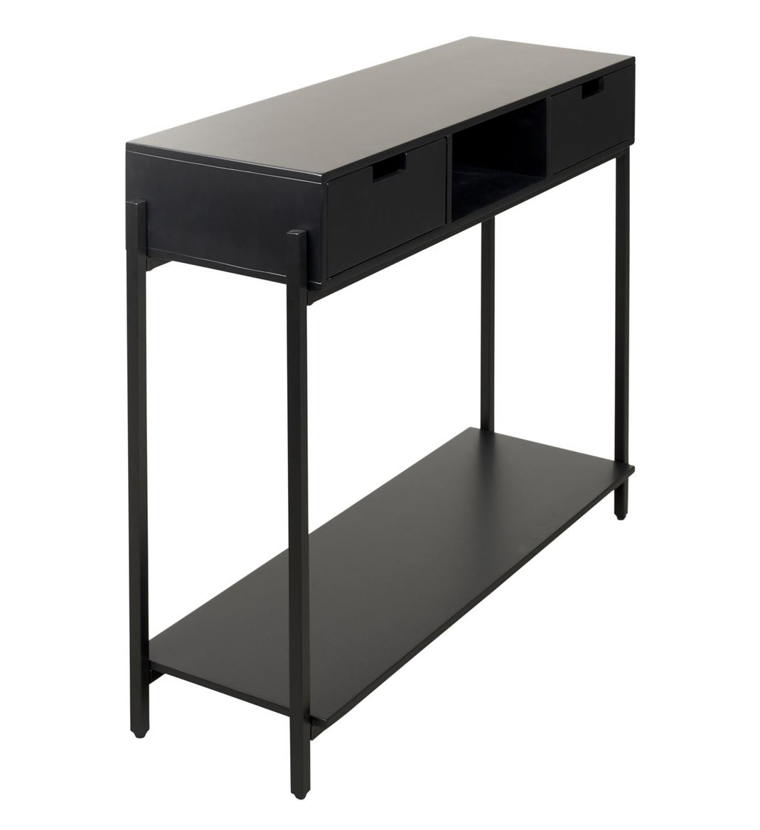 Mateo Table Murale Noir H 80 X Larg 32 X Long 100 Cm