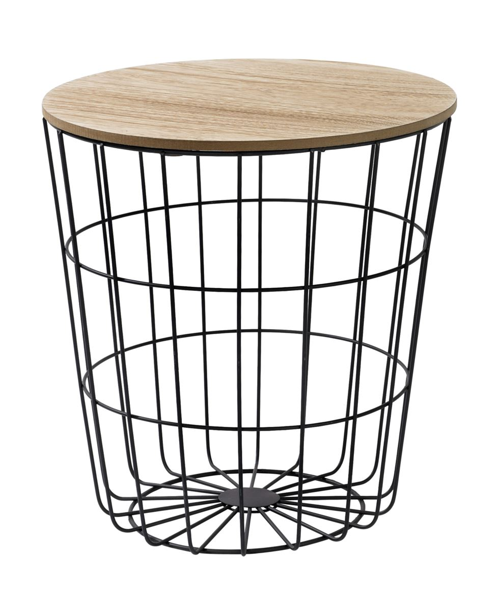 WIRE Table d'appoint noir H 41,5 cm; Ø 39,5 cm_wire-table-d'appoint-noir-h-41,5-cm;-ø-39,5-cm