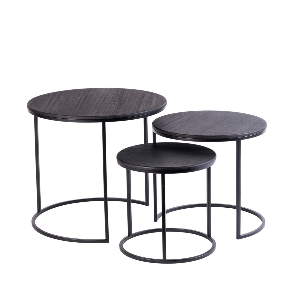 TRIP Tables d'appoint set de 3 noir_trip-tables-d'appoint-set-de-3-noir