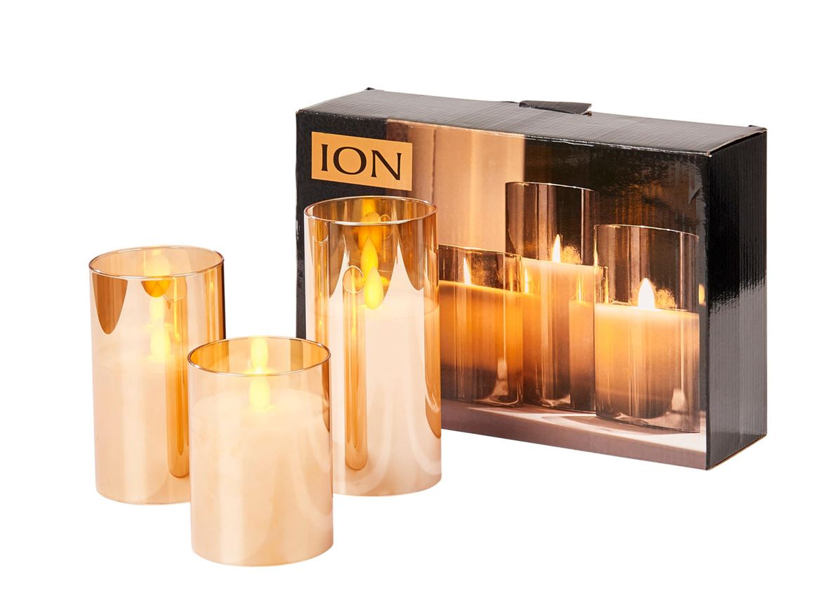 ION Bougies LED set de 3 ambre Ø 7.5 cm_ion-bougies-led-set-de-3-ambre-ø-7-5-cm