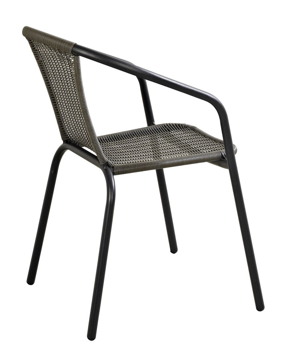 GERONA Chaise empilable structure mate gris foncé H 77 x Larg. 53 x P 58 cm_gerona-chaise-empilable-structure-mate-gris-foncé-h-77-x-larg--53-x-p-58-cm