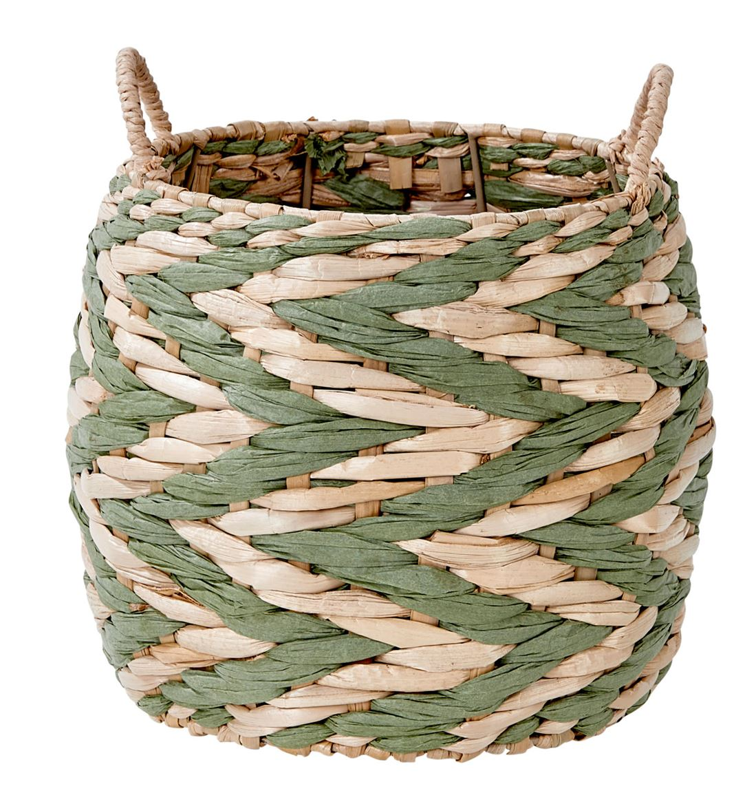 INDIAN GREEN Cesta verde, natural A 19 cm; Ø 23 cm_indian-green-cesta-verde,-natural-a-19-cm;-ø-23-cm