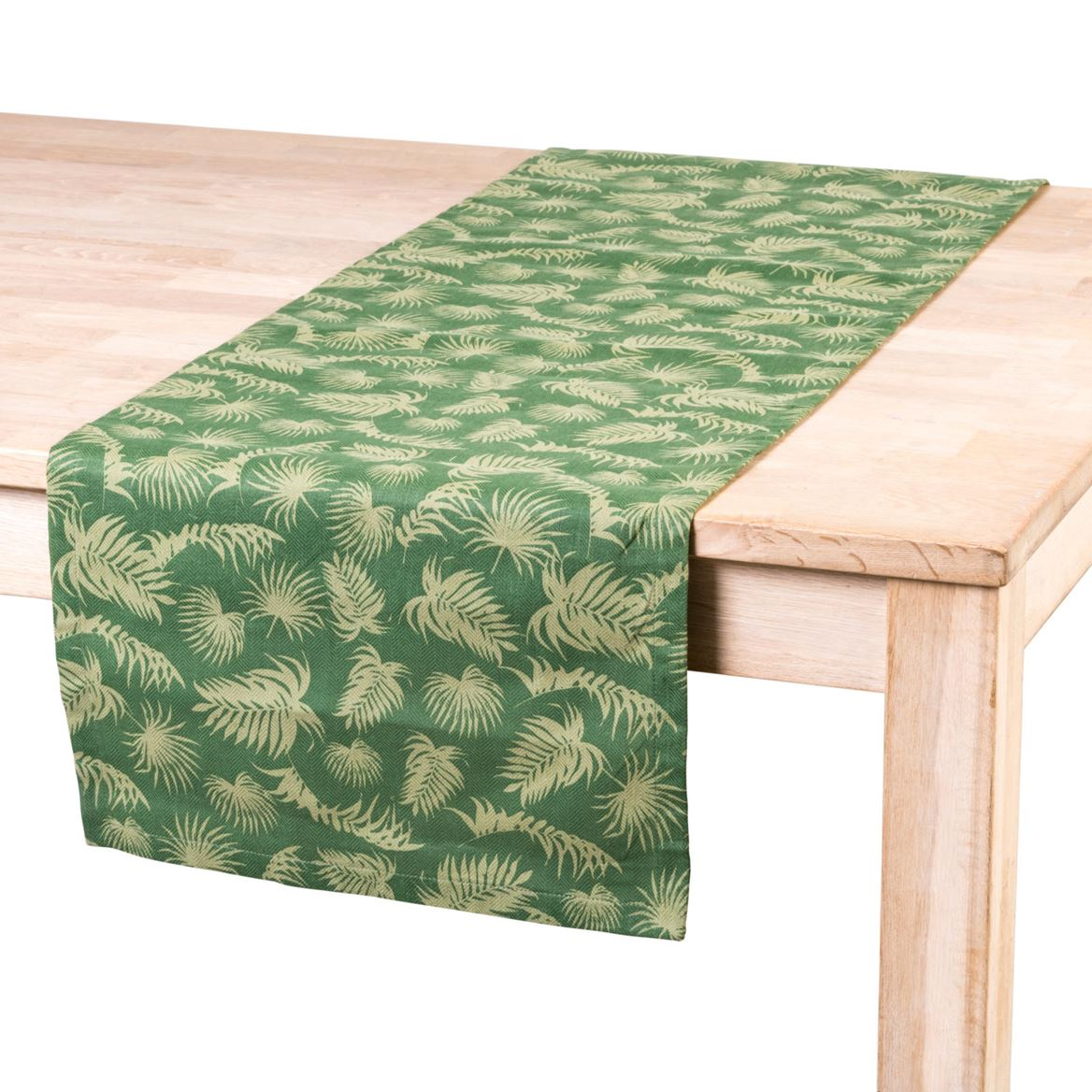 PALM LEAF Chemin de table vert Larg. 40 x Long. 140 cm_palm-leaf-chemin-de-table-vert-larg--40-x-long--140-cm