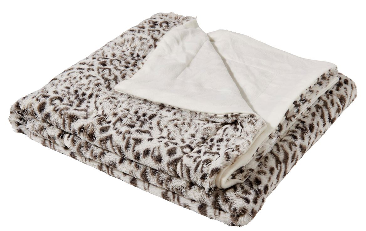 SNOW LEOPARD Plaid multicolore W 130 x L 160 cm_snow-leopard-plaid-multicolore-w-130-x-l-160-cm