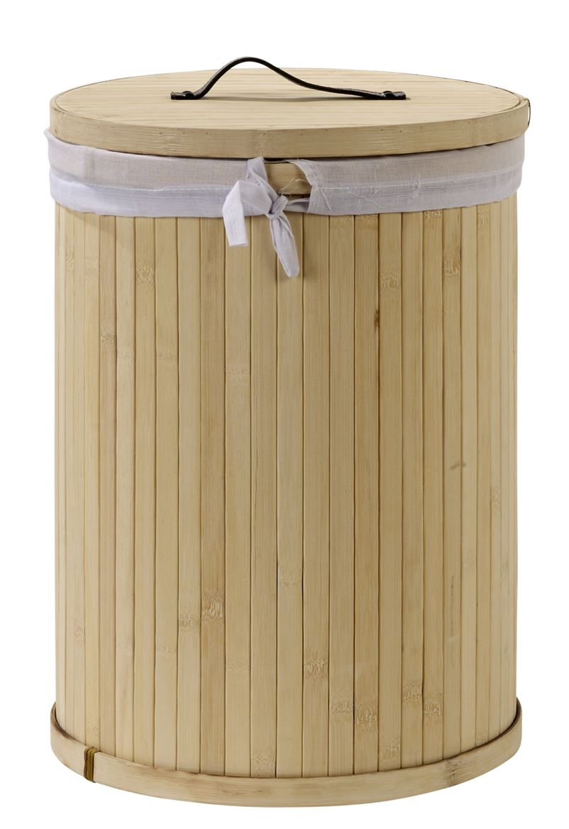 bamboo panier linge naturel h 42 cm 31 cm sp cialiste depuis 40 ans d j casa. Black Bedroom Furniture Sets. Home Design Ideas