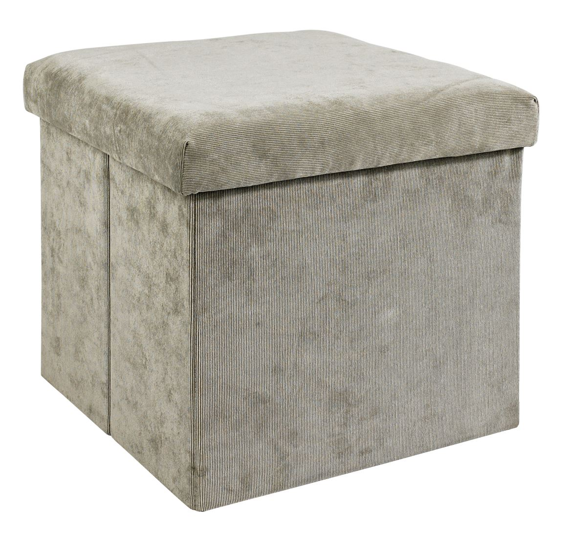 corduroy pouf de rangement gris taupe h 38 x larg 38 x p 38 cm sp cialiste depuis 40 ans. Black Bedroom Furniture Sets. Home Design Ideas