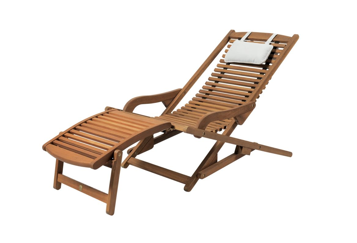 NEW VIP Chaise Relax Naturel H 72 X Larg 61 Long 104 Cm New