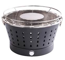 A TABLE Barbecue en grill zwart H 23 cm; Ø 36 cm