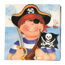 PIRATE Set de 20 serviettes